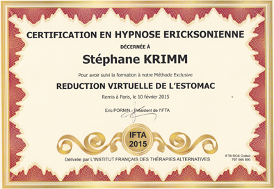 Certificat Réduction Virtuelle de l'Estomac